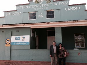 At the Gandhi Press in Phoenix, Durban