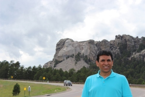 Anil at Mt Rushmore from a distance