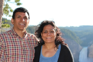 Anil Neerja at Yellowstone Grand Canyon